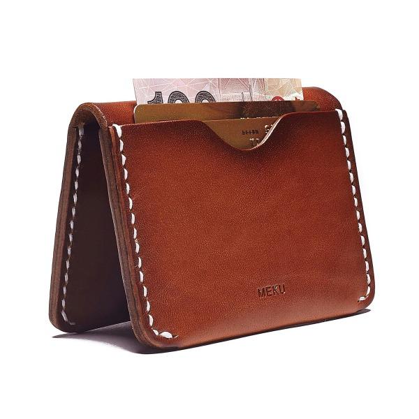 MEKU Handmade Slim Leather Wallet