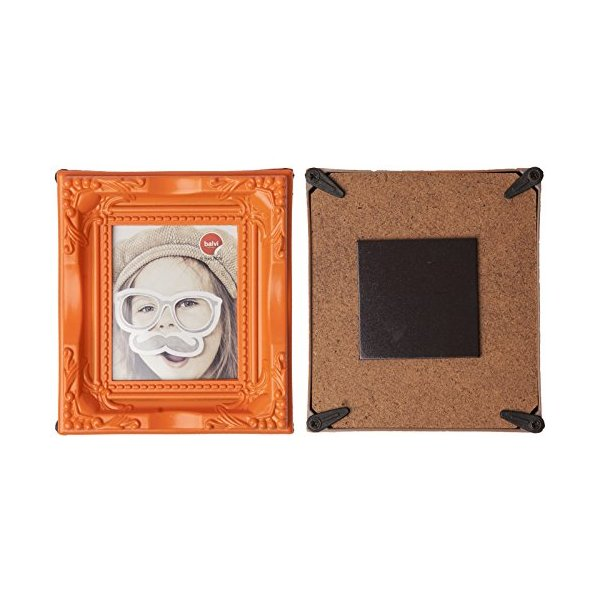 Ornate Magnetic Photo Frame - Various Colours Availible (Orange)