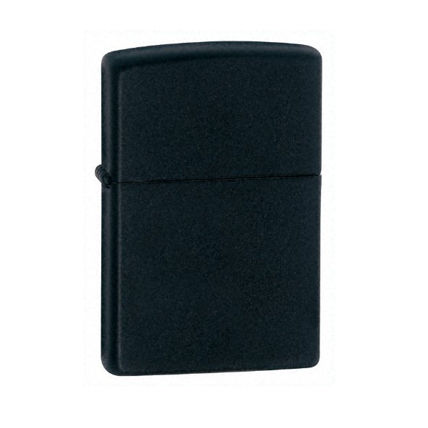 Zippo Regular Lighter, Black Matte