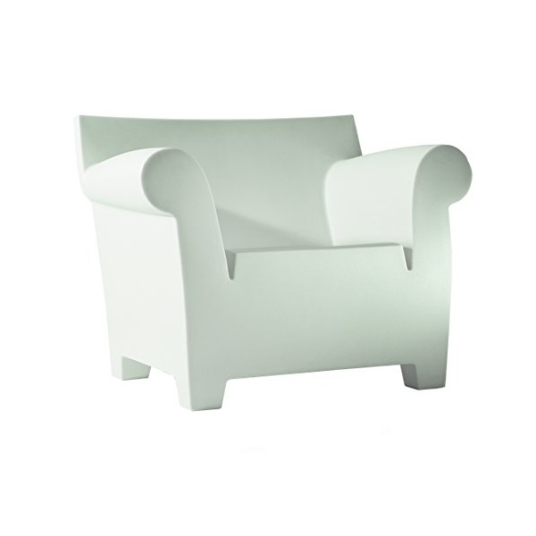 Kartell 6070/60 Bubble Club Sofa by Philippe Starck, Pack of 1, Matte Zinc White