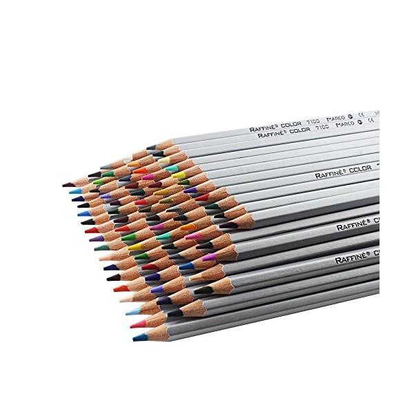 Niutop 72-color Premier Soft Core Art Colored Drawing Pencils of Marco for Artist Sketch/ Adult Secret Garden Coloring Book/ Kids Artist Writing/ Manga Artwork (72-color)