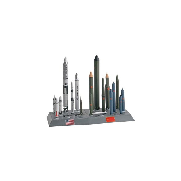 Revell Monogram USA/USSR Missile Set Plastic Model Building Kit, 1:144 Scale