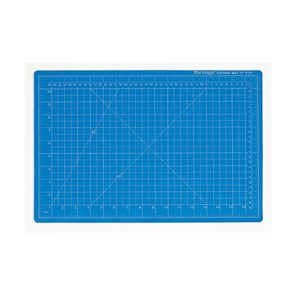"Dahle 10691 Vantage Cutting Mat, 12"" x 18"", Blue"