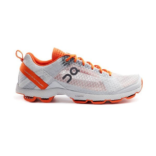 On Cloudracer Silver/Orange Men's Size 10 Ultralight Air Mesh For Competition