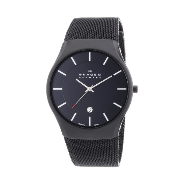Skagen Black Dial Black Ion-plated Mens Watch