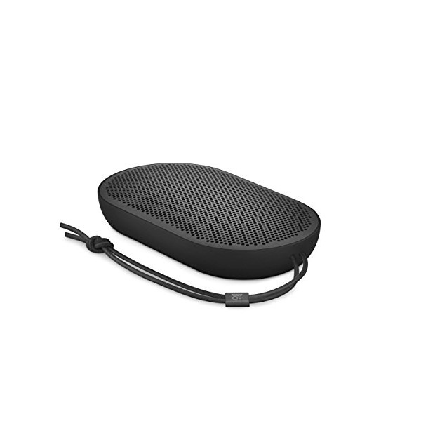 B&O PLAY by Bang & Olufsen Beoplay P2 Portable Bluetooth Speaker with Built-In Microphone, Black