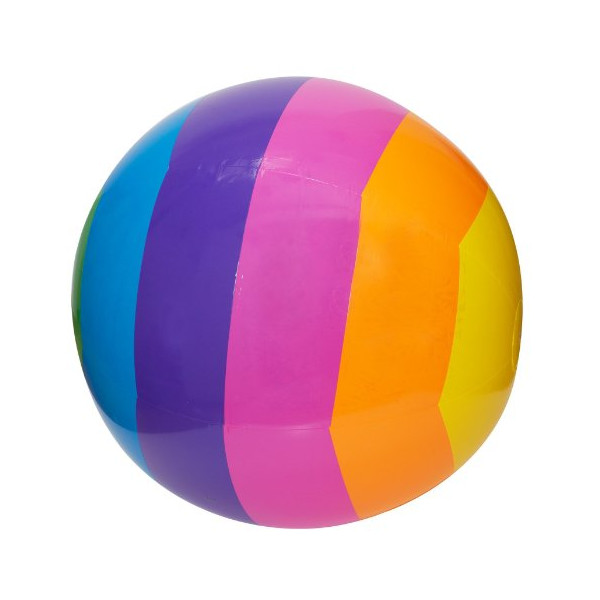 "GIANT RAINBOW BEACH BALL - HUGE 30"" DIAMETER!"