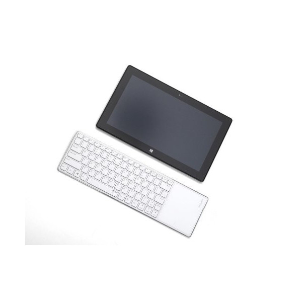 FOME Rapoo E6700 Ultra Slim Mini Wireless Bluetooth 3.0 Touch Keyboard for Windows 8 White + FOME Gift