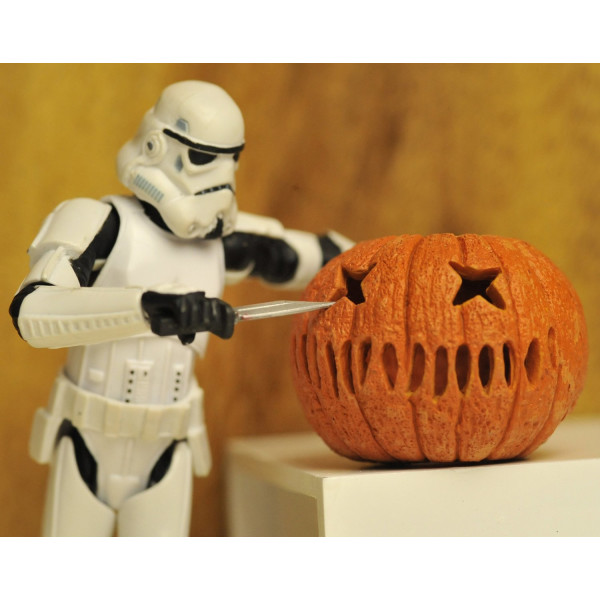Pumpkin Carving Trooper