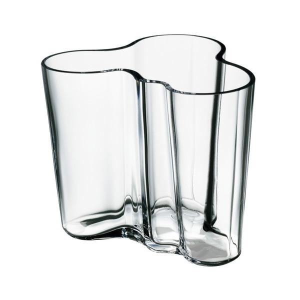 Iittala Aalto 6-1/2-Inch Clear Glass Vase