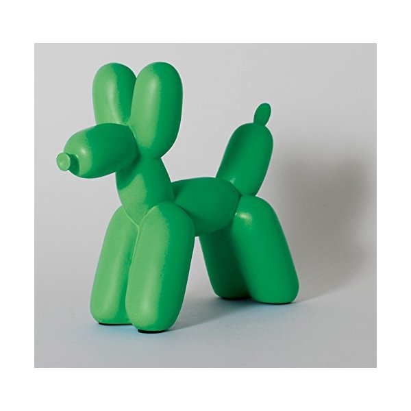 Big Top Balloon Dog Bookend in Kelly Green