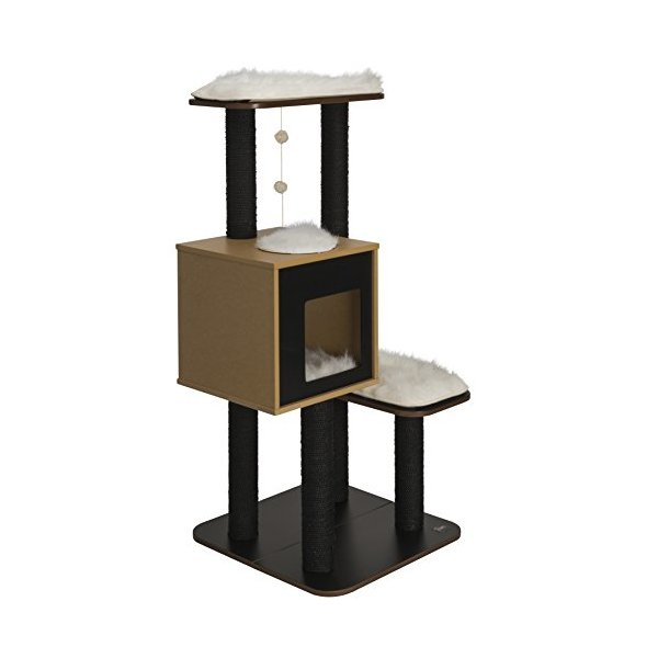 Vesper Cat Furniture, Black, V-High Base