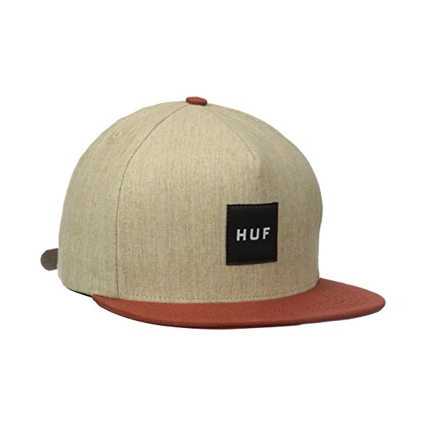HUF Men's Upstate Strapback Hat, Tan, One Size