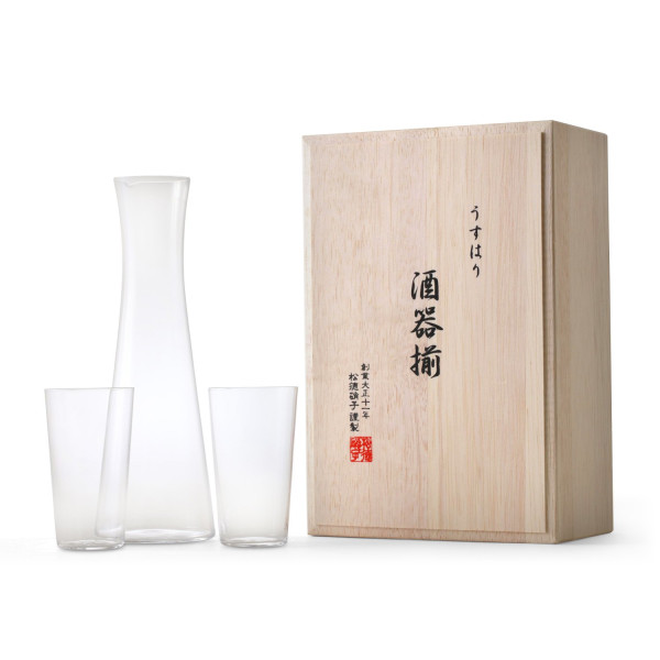 Usuhari Glass Sake Set