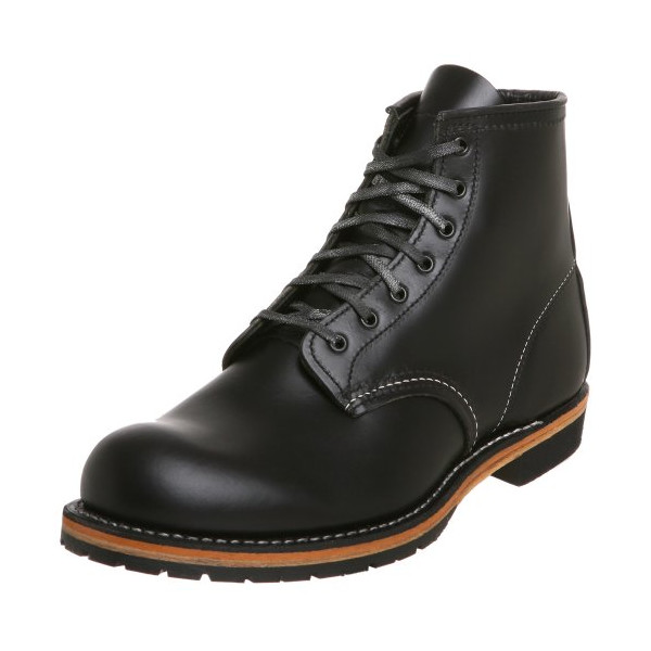 Red Wing Heritage Men's 6-Inch Beckman Round Toe Boot,Black Featherstone,8 D US