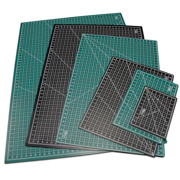 "US Art Supply® 30"" x 42"" GREEN/BLACK Professional Self Healing 5-Ply Double Sided Durable Non-Slip PVC Cutting Mat Great for Scrapbooking, Quilting, Sewing and all Arts & Crafts Projects (Choose Green/Black or Pink/Blue Below)"