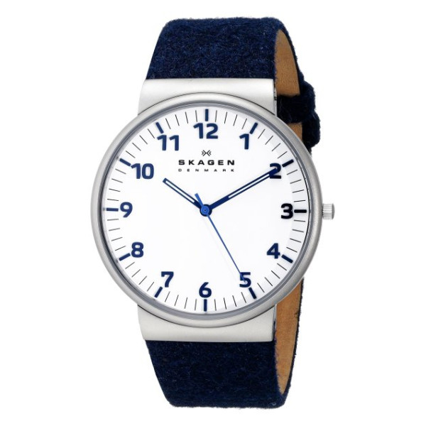 Skagen Men's Ancher Quartz 3 Hand Stainless Steel Blue Watch