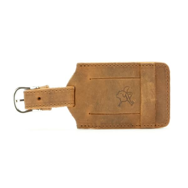 Saddleback Leather Luggage Tag, Tobacco