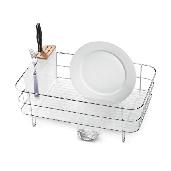 simplehuman Slim Wire Frame Dishrack, Stainless Steel