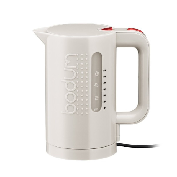 Bodum 17-Ounce Electric Water Kettle, White