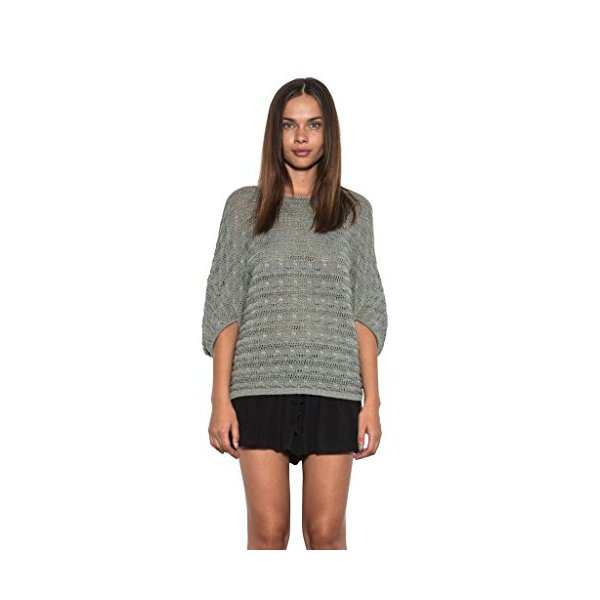 Womens Casual Devin Knit Pullover Light Short Sleeve Dolman Sage-L