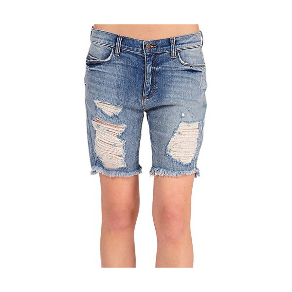 Women's Slouchy Kate Boyfriend Wrangler's Distressed Long Shorts Mid Rise-L