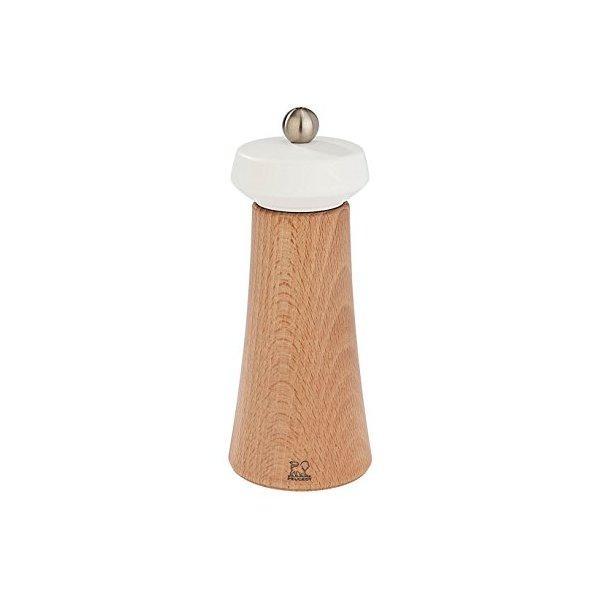 Peugeot Tokyo Natural Wood Salt Mill, 16cm/6-1/4-Inch, White Matte