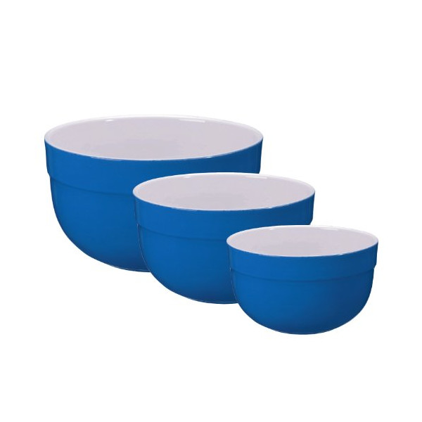 Emile Henry Mixing Bowl Set of 3, Azure blue