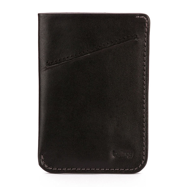 Bellroy Men's Leather Card Sleeve Wallet, Black