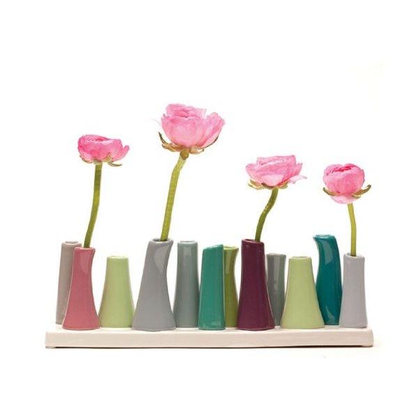 Chive, Pooley 2, 12-Tube, Multi  Vase