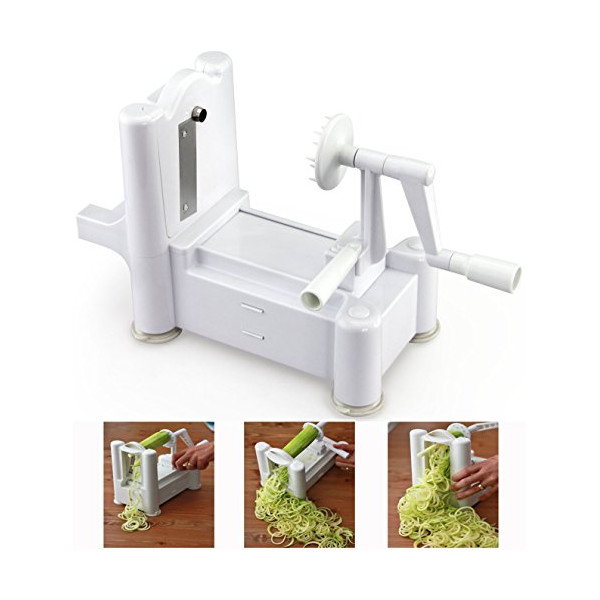 CQ Wellness Tri-Blade Vegetable Spiral Slicer, FDA Approved