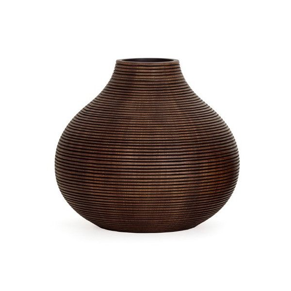 Torre & Tagus Colombo Ribbed Resin Gourd Vase