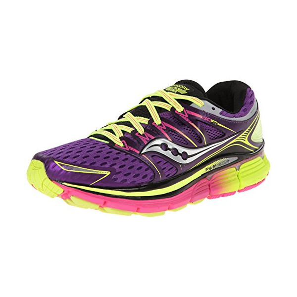 Saucony Women's Triumph ISO-Series Running Shoe,Purple/Citron/Pink,8.5 M US