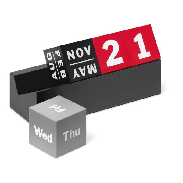 MoMA Cubes Perpetual Calendar, Red/Grey/Black