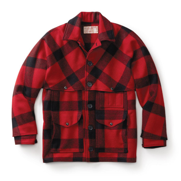Filson Men's Mackinaw Cruiser, Red/Black