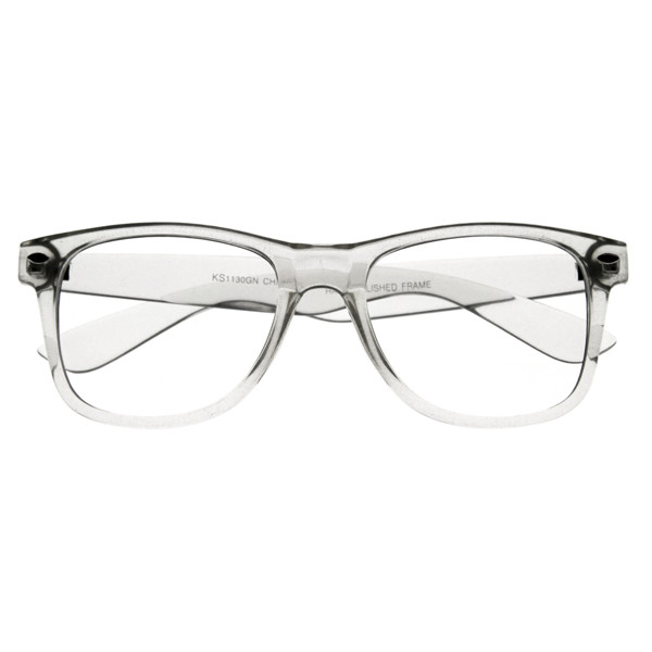 Wayfarer Crystal Clear Glasses