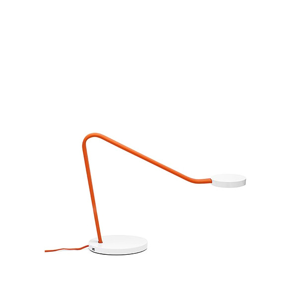 Orange Limber LED Task Lamp