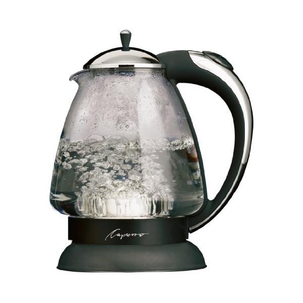 Capresso 259 H2O Plus Glass Water Kettle, Black