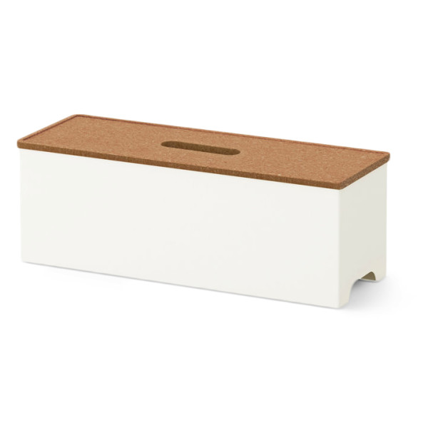 IKEA Kvissle Cable Management Box, with Cork Lid