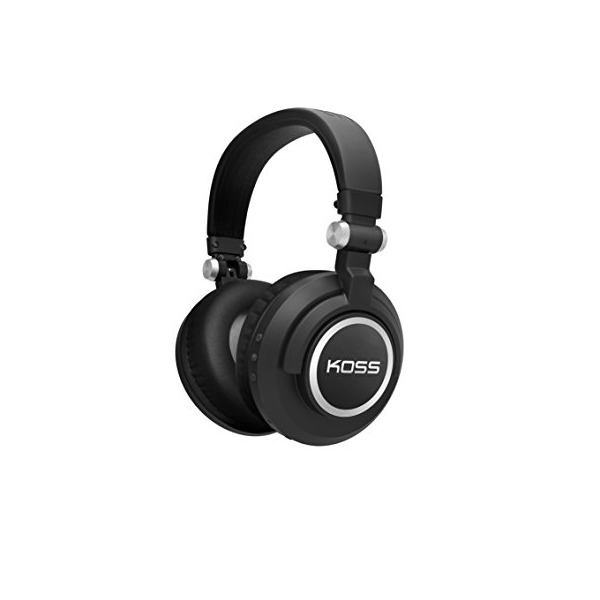 Koss BT540i Full Size Bluetooth Headphones, Black with Silver Trim
