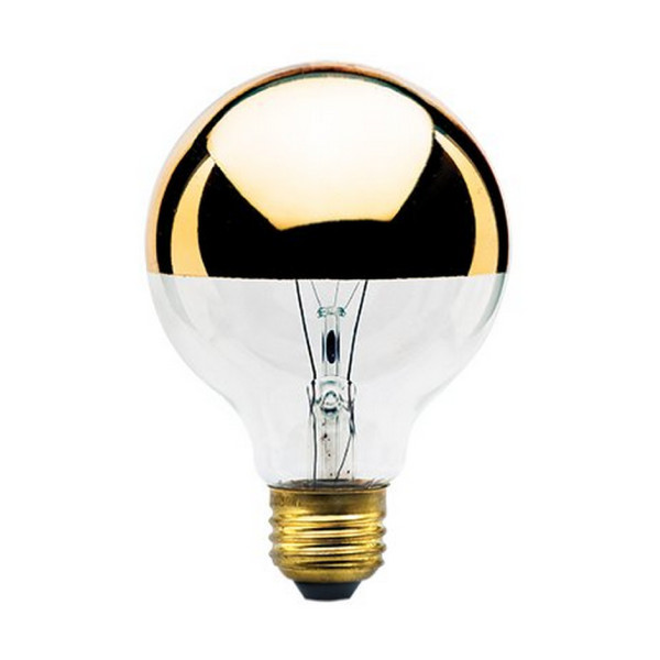 Bulbrite 40-Watt G25 Globe Bulb, Half Gold, Medium Base