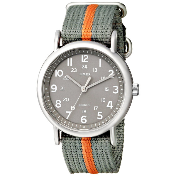 Timex Weekender Indiglo Analog Grey Dial Unisex Watch - T2N649