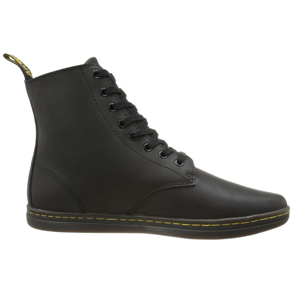 Dr. Martens Men's Tobias Boot, Black Greasy Lamper