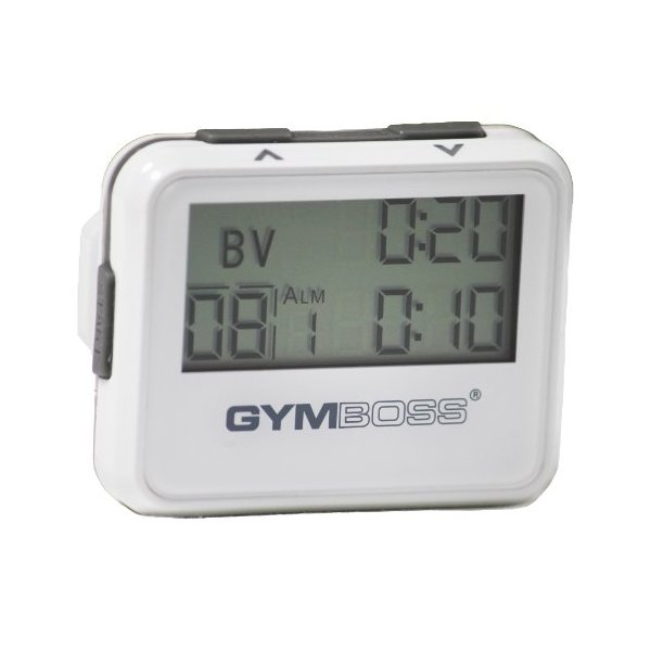 Gymboss Interval Timer and Stopwatch - WHITE / GRAY GLOSS