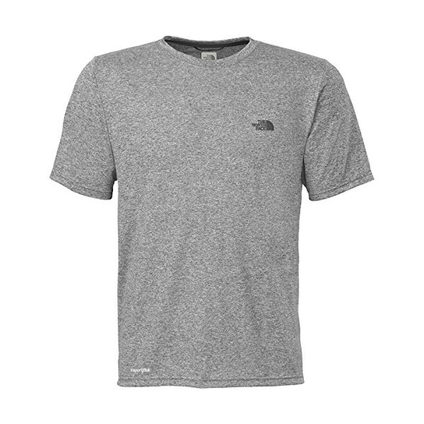 The North Face Men's Short-sleeve Reaxion AMP Crew (Large, Heather Grey)