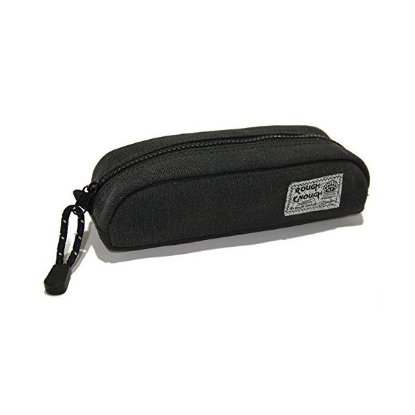 Rough Enough Heavy Canvas Durable Pencil Case (Stone Black)