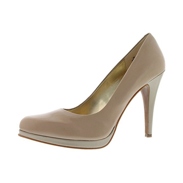 Nine West Women's Rocha Leather Pump Taupe 7 M US