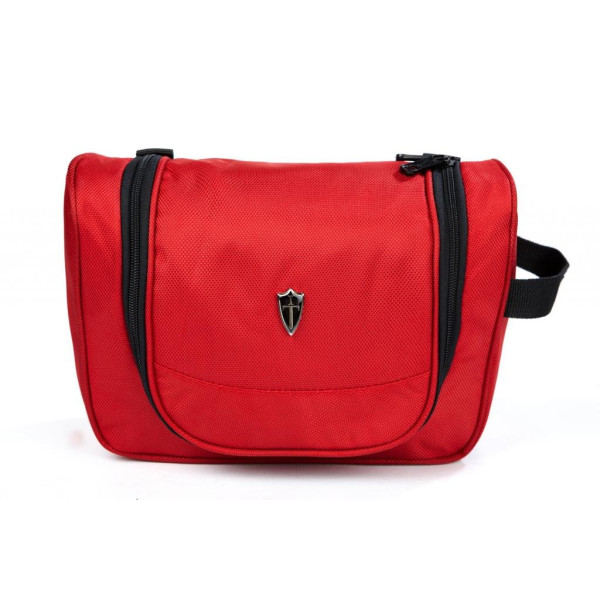 Victoriatourist Hanging Toiletry Bag, Red