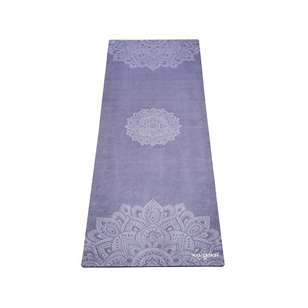 The Mandala Azure Combo Yoga Mat. Luxurious, Non-slip, Mat/Towel Designed to Grip the More You Sweat!