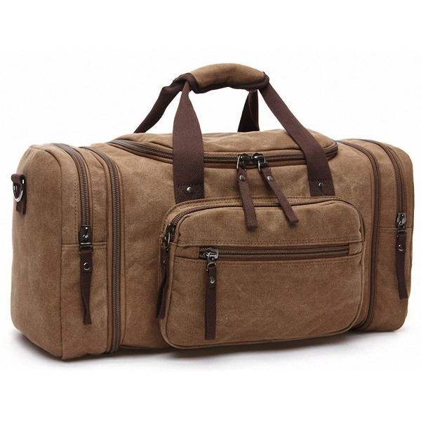 Kenox Oversized Canvas Travel Tote Luggage Weekend Duffel Bag